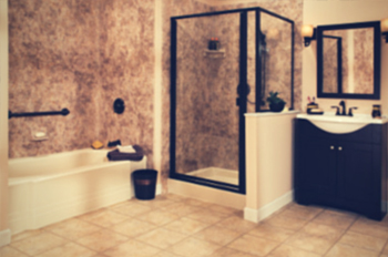Luxurious bathroom remodel with separate bath and walk-in shower